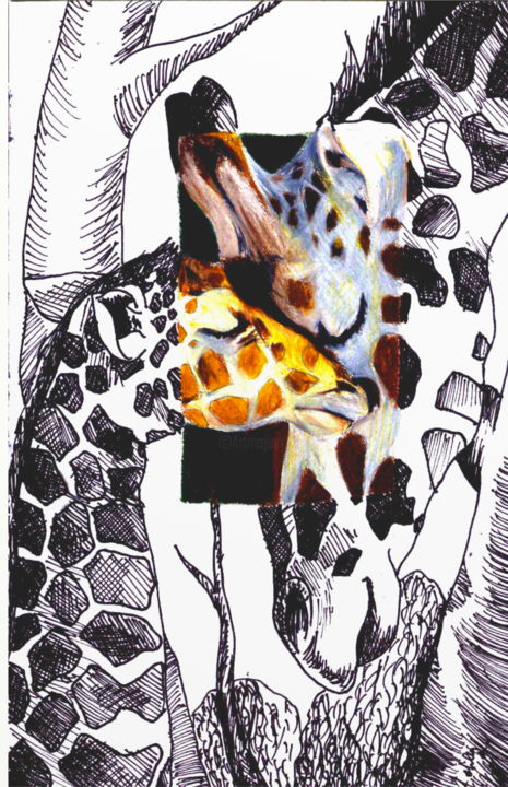 """Drawing titled """"Mother and Child Gi…"""" by Ashley Spencer, Original Art,"""
