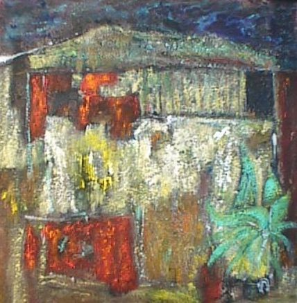 Painting,  40 x 40 cm ©2006 by Alain Assémat -  Painting