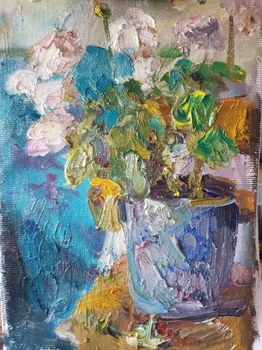 """Painting titled """"Blooming"""" by Assol Agaidarova, Original Art, Oil Mounted on Stretcher frame"""