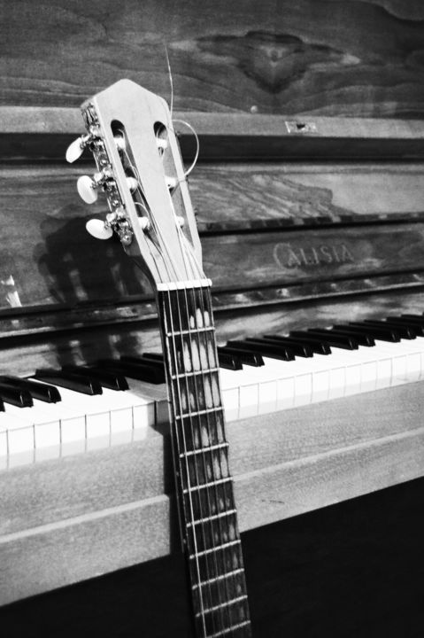 Guitar and piano photography 2014 by astrid babayan photorealism paper music