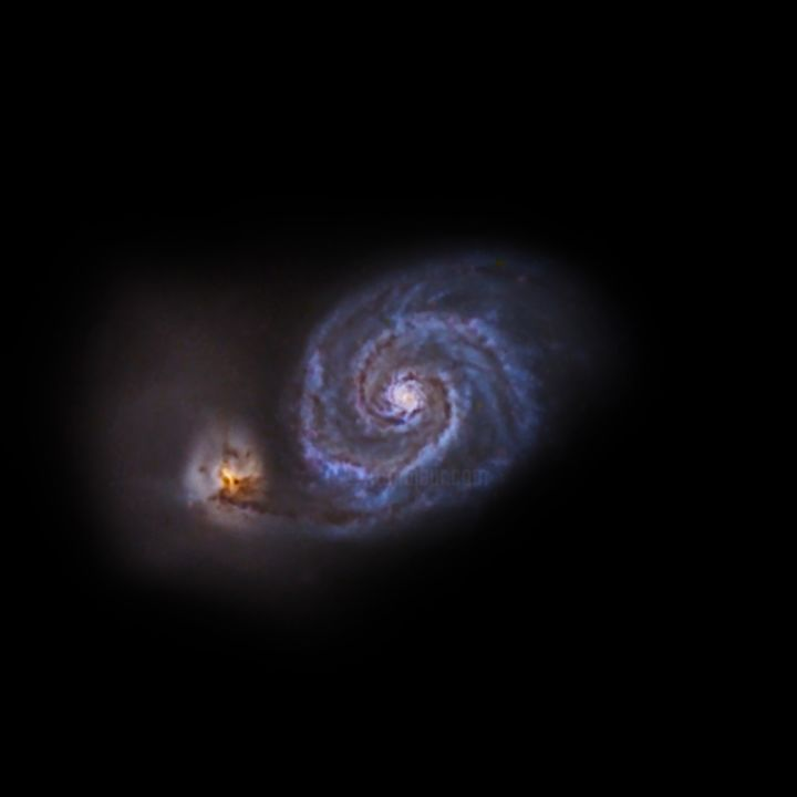 """Photography titled """"The whirlpool Galaxy"""" by David James, Original Art, Digital Photography"""