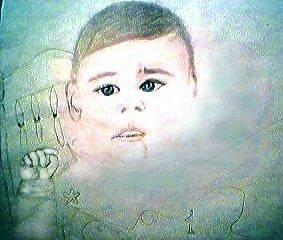 """Drawing titled """"Connor The Warrior"""" by Christine D'Labrion, Original Art, Chalk"""