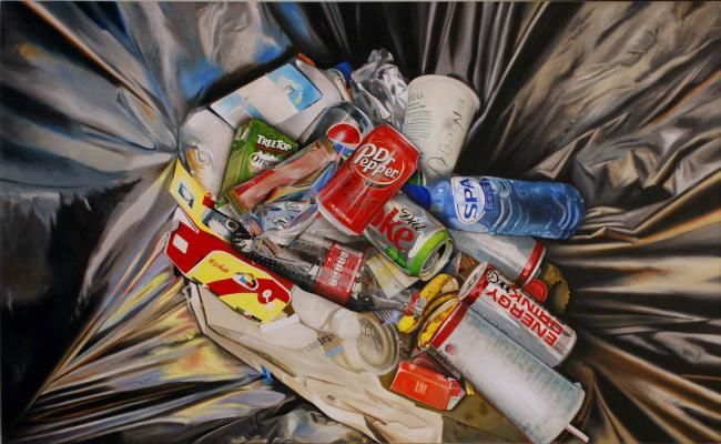 Waste of the world - Painting,  35.4x59.1 in, ©2012 by MC_GARBAGE -
