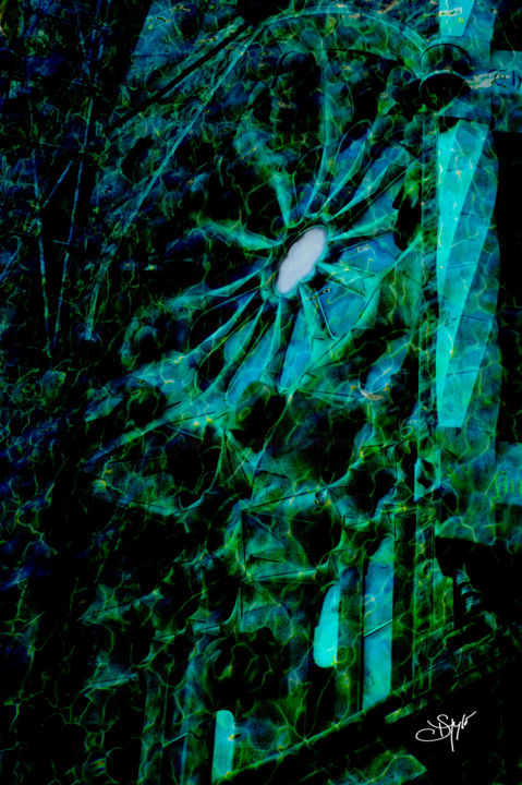 Green Sagrada - Photography,  35.4x23.6x0.2 in, ©2016 by Atelier Lumiere D Automne -                                                                                                                                                                                                                                                                                                                                                                                                                                                                                                                                                                                              Figurative, figurative-594, Other, Architecture, Colors, Water, photo, mer, Basilique, Espagne, Rosas, architecture