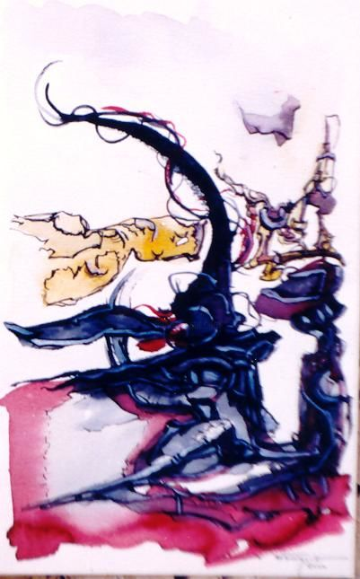 No matter - Painting ©2001 by Luis Athouguia -