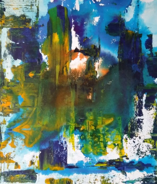 Untitled_111220 - Painting,  19.7x17.7x0.4 in, ©2020 by Atignas Art -