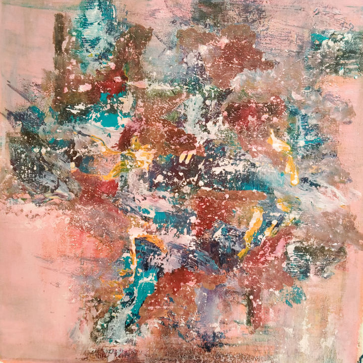 Scent - Painting,  19.7x20.5x0.8 in, ©2021 by Atignas Art -                                                                                                                          Abstract, abstract-570
