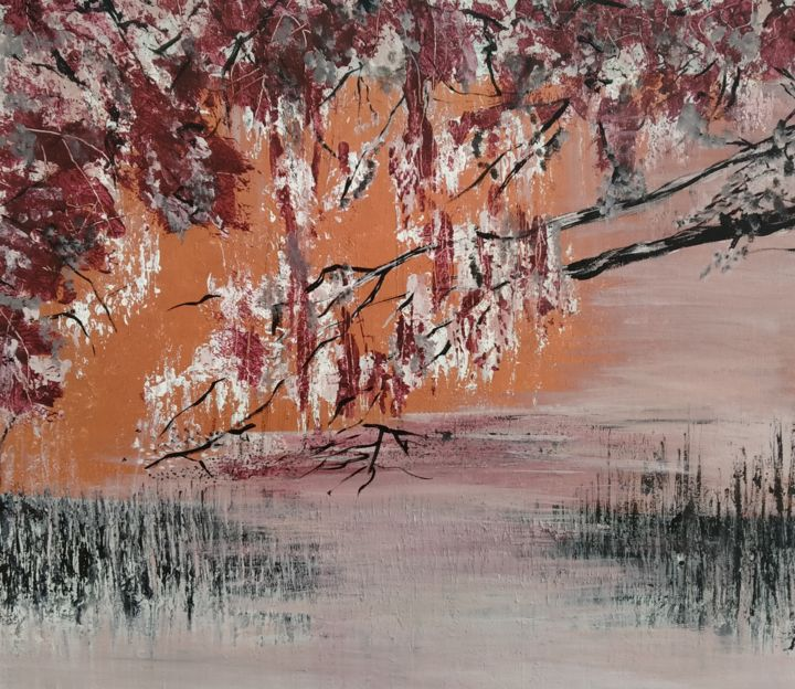 Dreamy Fall - Painting,  19.7x23.6x2 in, ©2020 by Atignas Art -                                                                                                                          Abstract, abstract-570