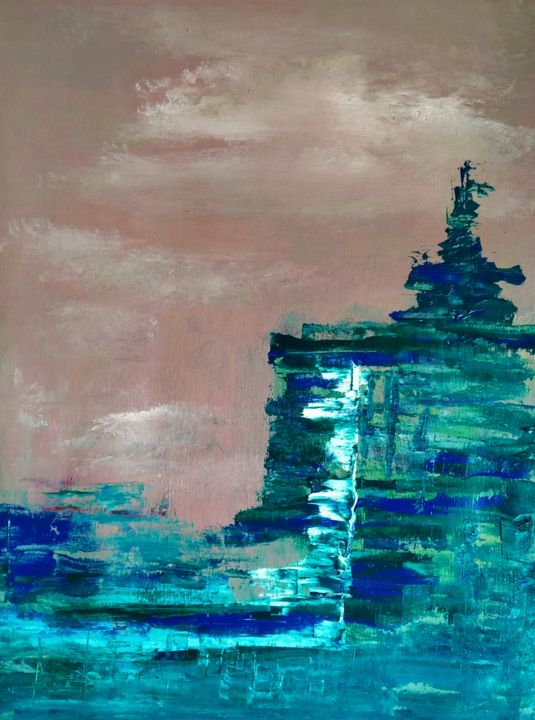 Zen - Painting,  18.1x14.2x0.4 in, ©2021 by Atignas Art -                                                                                                                          Abstract, abstract-570