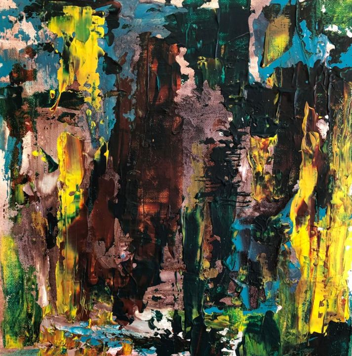 """Painting titled """"Stack of memories"""" by Atignas Art, Original Art, Acrylic Mounted on Wood Panel"""