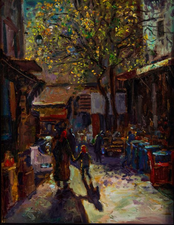 Bjl - Painting,  24.4x19.7 in, ©2008 by Atlas Alaoui Hassan -