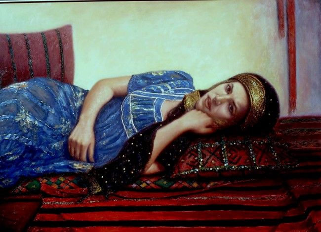 r001-033.jpg - Painting, ©2006 by Atlas Alaoui Hassan -