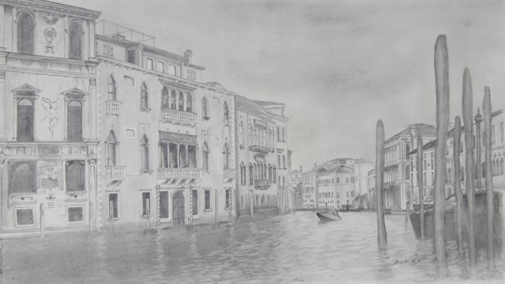Venice drawing by aubin de jongh artmajeur
