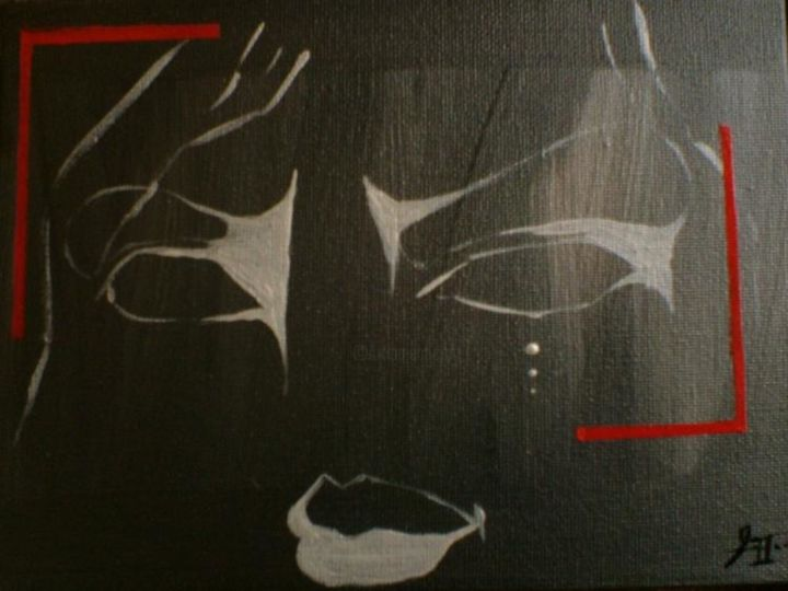 Negative - Painting,  7.1x9.5 in, ©2004 by Deleted -                                                                                                                                                                          Abstract, abstract-570, Acrylique