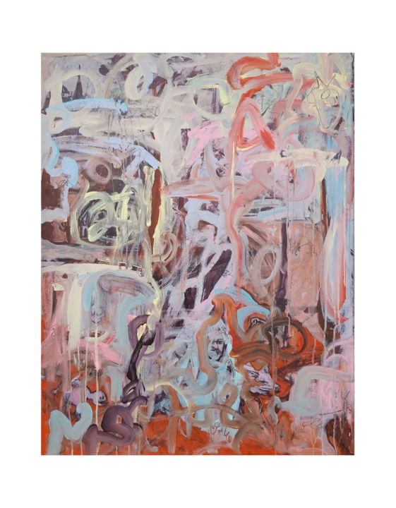 """Painting titled """"Hieronymus"""" by Audrey Néron, Original Art, Oil Mounted on Stretcher frame"""