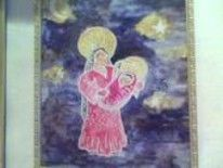"""Painting titled """"Madonna and Child"""" by Austen, Original Art,"""