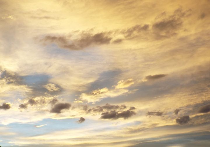 """Photography titled """"CLOUDS: """"Sunset II…"""" by Curtis H. Jones, Original Art, Digital Photography Mounted on Stretcher frame"""
