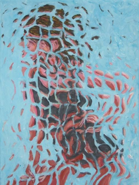 Ragazza in bikini - Painting,  30x40 cm ©2010 by Paolo Avanzi -                        Contemporary painting