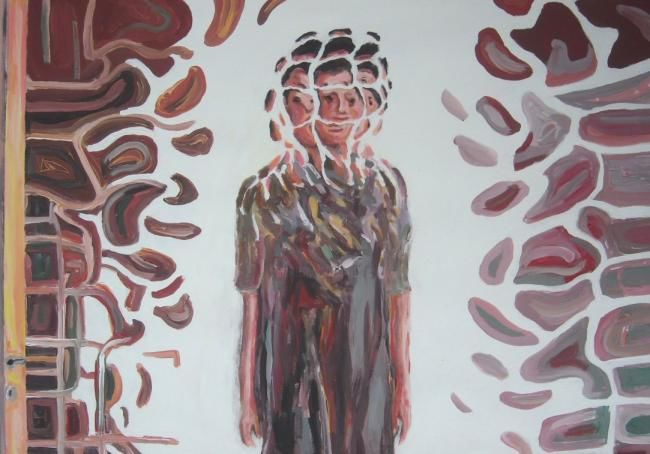 Pensiero laterale - Painting,  50x70 cm ©2011 by Paolo Avanzi -                        Contemporary painting