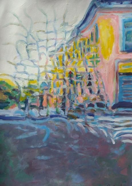 Piazza Costantino a Milano - Painting,  30x21 cm ©2011 by Paolo Avanzi -                        Contemporary painting