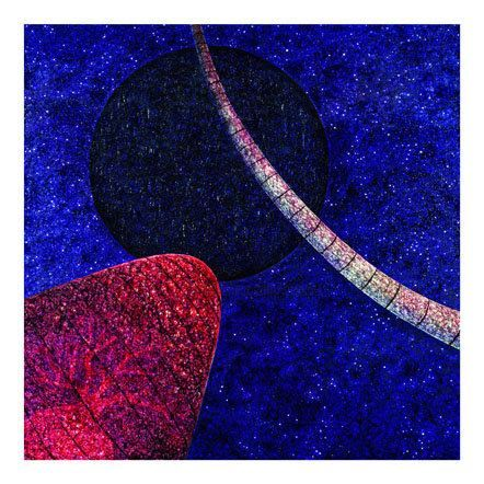 Black Moon - Painting,  37.4x37.4x1.2 in, ©2001 by Andre Van Der Kerkhoff -                                                                                                                                                                          Abstract, abstract-570, Landscape