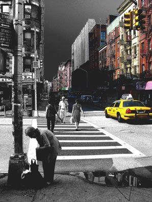 even in the big apple one gets stuck in the little things of life - Photography,  29.5x22.1 in, ©2008 by Andre Van Der Kerkhoff -