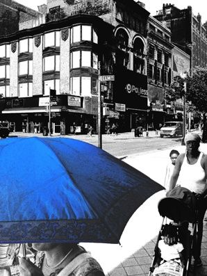 that catalogue and a so blue parasol - Photography,  29.5x22.1x0.4 in, ©2008 by Andre Van Der Kerkhoff -
