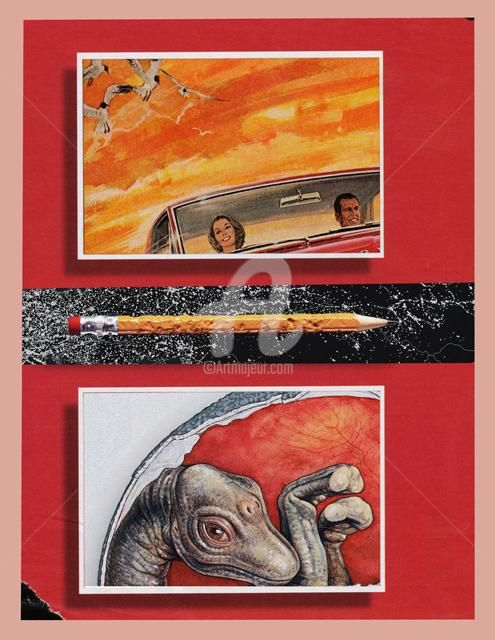 """Collages titled """"evolution in perspe…"""" by C Avery, Original Art,"""