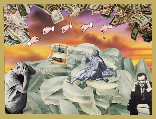 """Collages titled """"make it stop"""" by C Avery, Original Art,"""