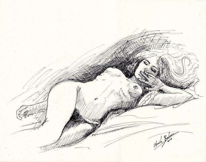Erotic nude art drawing consider