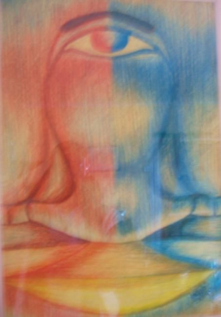 Fusion - Painting,  70x50 cm ©1998 by Ayayi Hillah -