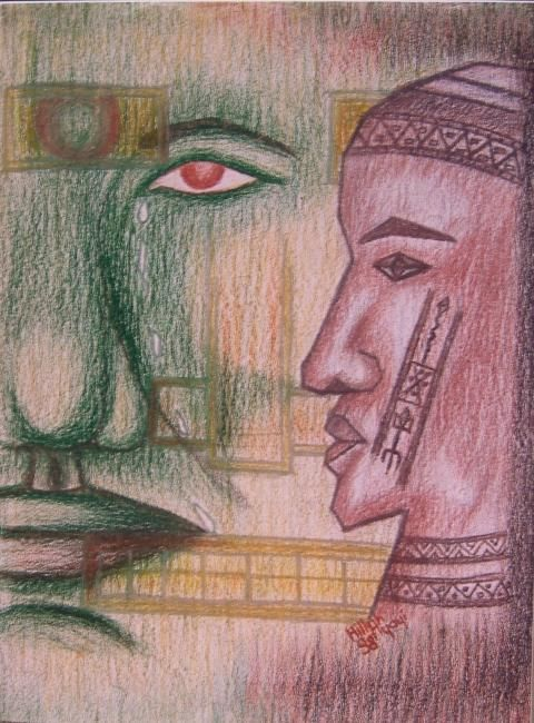 Compassion - Painting,  80x60 cm ©1998 by Ayayi Hillah -