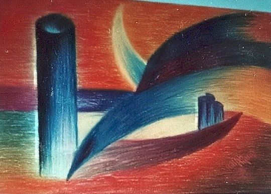 Agencement - Painting ©1998 by Ayayi Hillah -