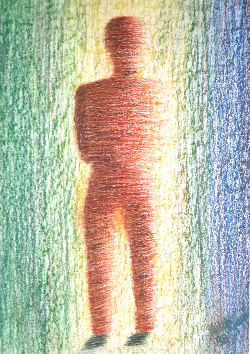 Incertitude - Painting,  75x50 cm ©1998 by Ayayi Hillah -