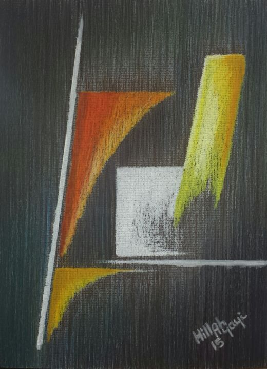 Rupture - Painting,  50x40 cm ©2015 by Ayayi Hillah -