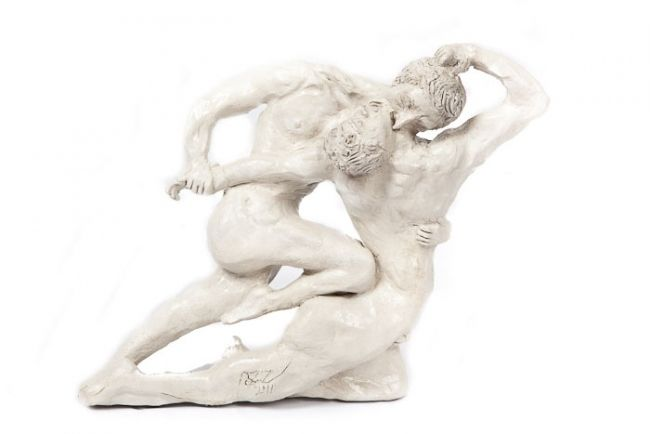 """Sculpture titled """"Cain and Abel"""" by Aziz Anzabi, Original Art, Other"""