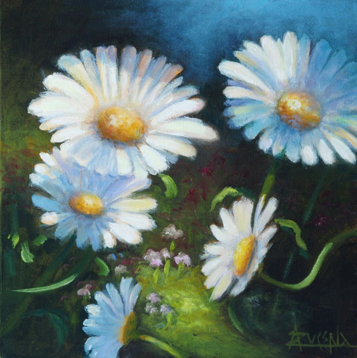"""Painting titled """"Capricho - """"Caprice"""""""" by Azucena, Original Art, Oil"""