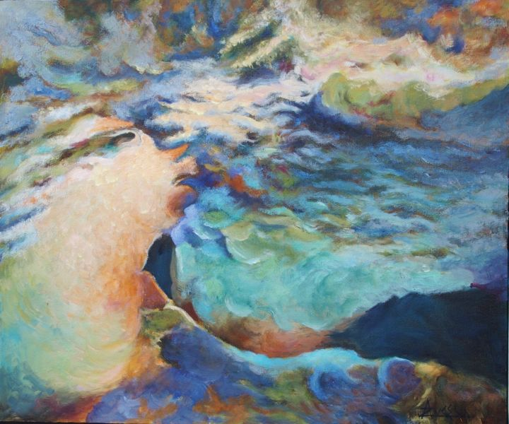 """Painting titled """"Et le chaos voulait…"""" by Azucena, Original Art, Oil Mounted on Stretcher frame"""