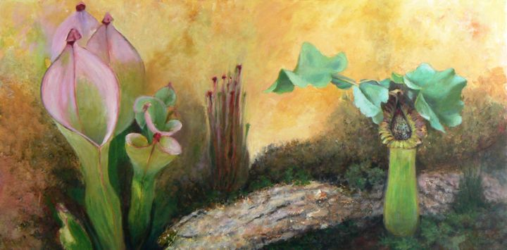 """Painting titled """"Tropical dream"""" by Azucena, Original Art, Oil"""