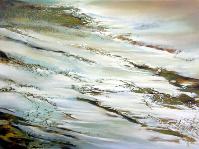 GRAND NORD - Painting,  60x81 cm ©2007 by B-ALEXIS -