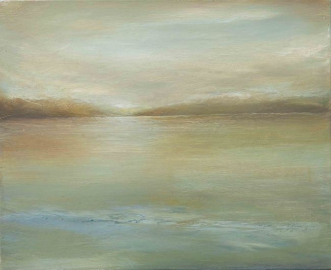 LE LAC. - Painting,  19.7x24 in, ©2013 by B-Alexis -