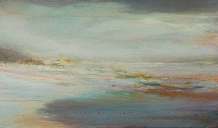 ROSCOFF.jpg - Painting,  53x33 cm ©2014 by B-ALEXIS -                                            Abstract Expressionism, Seascape, Paysage, huile sur toile, Roskoff
