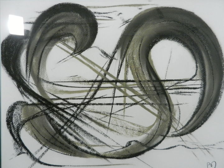 DENA - Dessin,  15,8x19,7 in, ©2010 par ROBRIMA -                                                                                                                                                                                                                          Abstract, abstract-570, Art abstrait, abstraction lyrique
