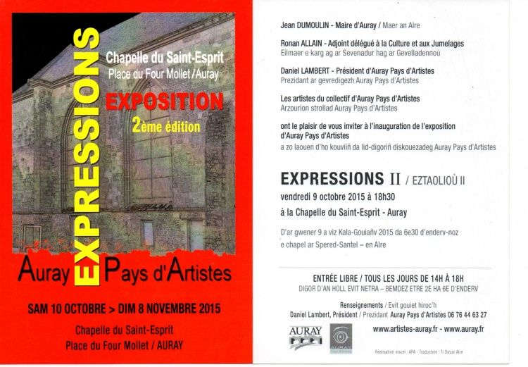 Exposition collective,  art contemporain,  auray