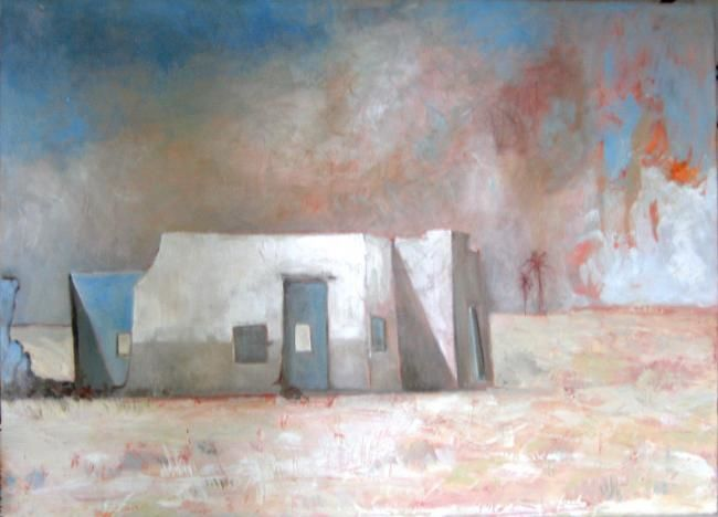 vent de sable - Painting,  75x90 cm ©2012 by Babeth Pochan -