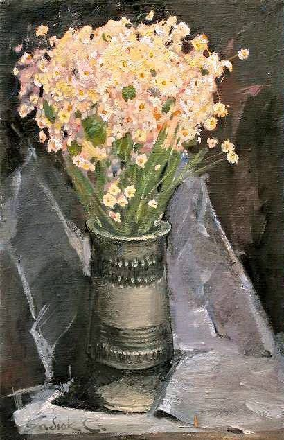 Flowers - Painting,  40x60 cm ©2007 by Stanislav Babiuk -                            Realism, oil, canvas, painting, живопись, холст масло, реализм