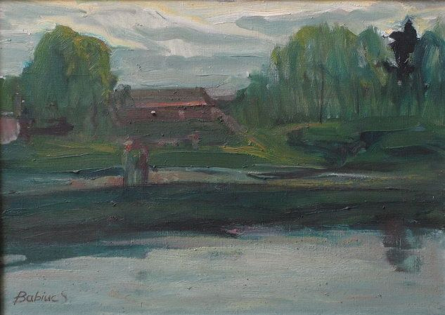 After a rain - Painting,  70x50 cm ©2002 by Stanislav Babiuk -                            Realism, oil, canvas, painting, живопись, холст масло, реализм