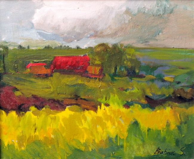 The rural house - Painting,  70x60 cm ©2004 by Stanislav Babiuk -                            Realism, oil, canvas, painting, живопись, холст масло, реализм