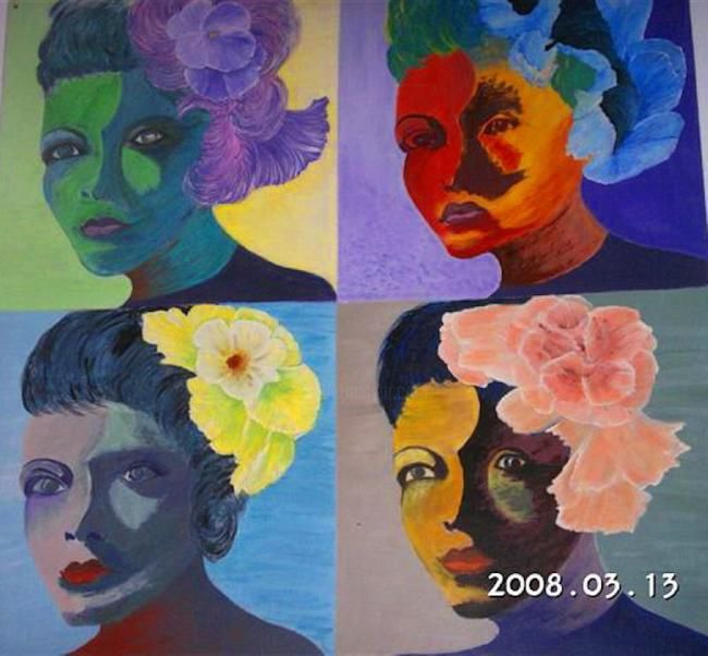 LA BELLE - Painting ©2008 by Babou -