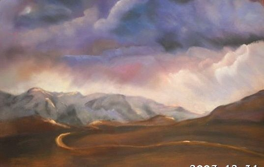 WINDY - Painting ©2008 by Babou -